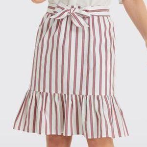 Draper James Stripe Flounce Skirt NWT